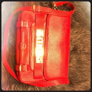 proenza schouler ps11 red leather bag